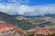 Amazing nature painted hills and valleys from the remote North Andean corner of Argentina