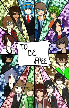 To Be Free | Dangan Ronpa/MineCraft YouTubers AU by DeathlyBetrayal on deviantART