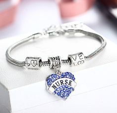 Look no further. This nurse bracelet is the perfect gift for nurses. Whether its a graduation gift, nurse practitioner gift, nursing school gift, registered nurse gifts-they will love it!! Chain lengt
