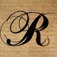 Monogram Initial Letter R Digital Collage Sheet By Graphique