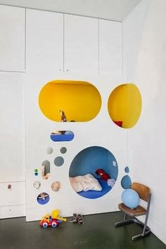the boo and the boy: built-in kids beds