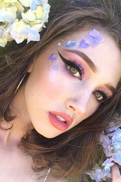 makeup looks 2017 Makeup Inspo, Makeup Trends, Makeup Art, Makeup Inspiration, Beauty Makeup, Creative Makeup Looks, Unique Makeup, Colorful Makeup, Kawaii Makeup