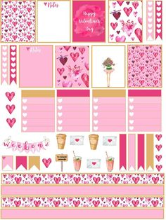 Valentines Day Stickers - check out this round up of free Valentine's Day stickers for planners. Add a little valentine love to your planner. To Do Planner, Happy Planner, Kikki K Planner, Planner Diy, Free Planner, Planner Ideas, Planer Organisation, Organization, Valentine's Day