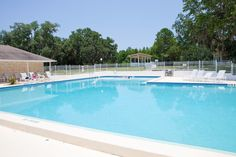 The swimming pool at Meadow Oaks - an amenity rich community of new homes in Hudson, Florida.