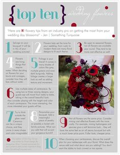 TOP 10 wedding flower tips