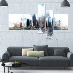 DesignArt 'Backside' Multi-panel Cityscape Wall Art
