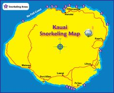 Kauai Best Beach Map | Kauai is a mountainous island, and the way you get to a handful of the ...