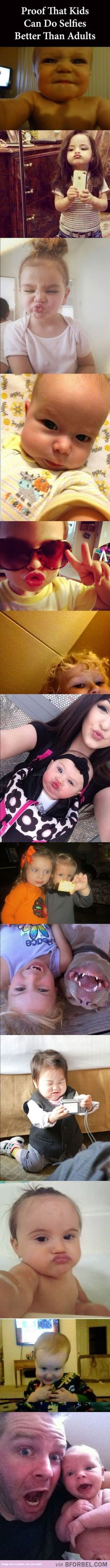 Babies can take selfies better than adults! Adorable!!