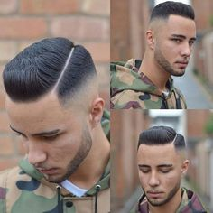 Bald Fade with Part