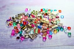 Memory locket charms/floating charms/random charms/disney charms/heart charms-wholesale charm lot colorful enamel floating charms x25