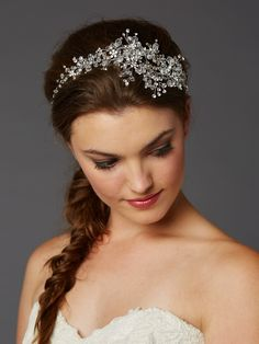 Best-Selling Wedding Hair Vine with Lavish Crystals Sprays 4380H-CR-S