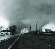 The infamous twin tornadoes that hit Elkhart, Indiana, on Palm Sunday (April 11), 1965 killing 11 in a trailer park. Such a twin tornado is suspected in the Great Tri-State Tornado of March 18, 1925 which killed almost 700 people across Missouri, Illinois, & Indiana.