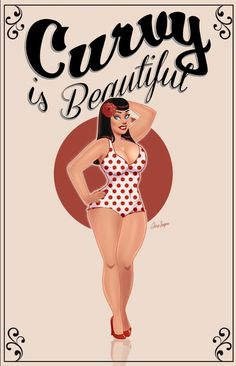 Pin up girl ladies / women bbw / nice curves. Art artistically done Beautiful Curves, Big And Beautiful, Nice Curves, Body Curves, Pin Up Girls, Plus Size Art, Modelos Plus Size, Moda Vintage, Pin Up Style