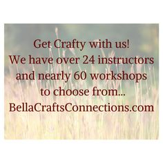 We're planning a fun weekend of crafty workshops and friendship. Won't you join us? Get your tickets for the Bella Crafts Connections event before we sell out! Let's get crafting! BellaCraftsConnections.com
