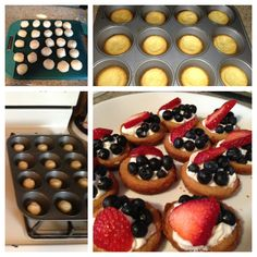 Sugar Cookie Fruit Tartlets -- easy recipe and really yummy! Follow me ...