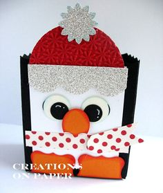 Creations on Paper: Holiday Treat Box - Penguin