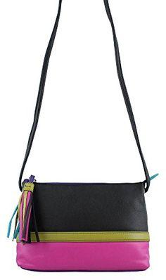 Damara Leather Colorblock Cross-body Handbag b59ef68df963f