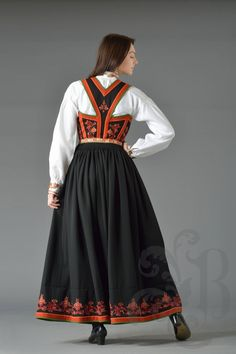 Hardanger Embroidery, Ethnic Fashion, Norway, Vest, Victorian, Languages, Dresses, Sewing, Embroidery