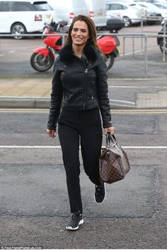 Low-key:Nicole Bass, one of last season's recruits, appeared to have missed the memo and gone extremely dressed down in trainers and tracksuit bottoms