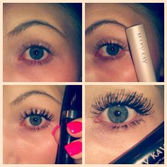 No lashes to Full lashes, and no falsies! Primer, ultimate macara and lash love mascara! this is not photo-shopped!