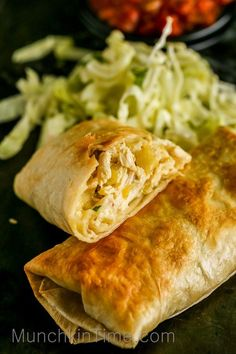 Easy 30-Minute Chicken Chimichanga Recipe is a deep-fried or baked burrito, stuffed with chicken, cheese and mild chilies. They are crispy from the outside.