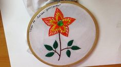 Hand Embroidery -  Beautiful and simple  fishbone stitch design