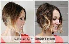 How to Curl Short Hair with Conair Curl Secret- Tutorial