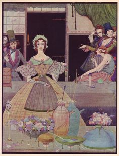 Harry Clarke. Edgar Allan Poe - Tales of Mystery and Imagination -  in color - from the blog 50 Watts by Will Schofield -  5 of 8