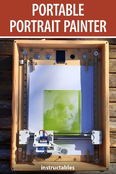 Ben Lucy created this portable portrait painter that recreates photographs by drawing thick and thin lines. #Instructables #electronics #technology #fusion360 #Arduino
