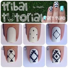 awesome Tribal nail art tutorial...
