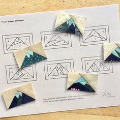 Paper Pieced Quilt Patterns, Patchwork Quilting, Quilt Block Patterns, Quilting Tips, Pattern Blocks, Quilting Projects, Quilt Blocks, Pattern Ideas, Hand Quilting Patterns