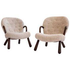 Pair of Philip Arctander Clam Chairs, 1944