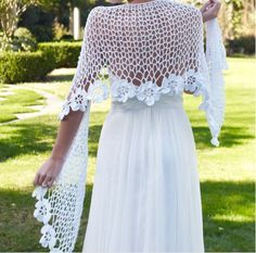 xale em croche nupcial branco casamento em croche com receita