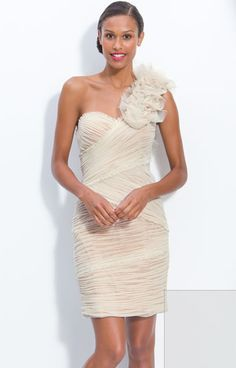 cute idea for bridesmaid's dresses..not that color though