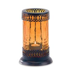 Beautiful Amber Glass Lantern to create a warm environment !  Free Shipping always!