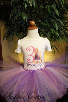 Rapunzel Tangled Birthday Shirt Personalized By Hautalacouture 2000 Party Disney