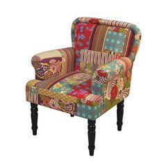 Sessel Montero - Webstoff Patchwork Ich will so einen Sessel!