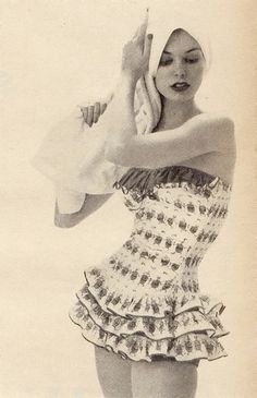 Charm Magazine Bathing Suit 1955. My heart has always longed for this swim suit