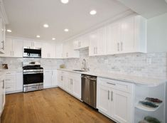 Own a House That Looks Like it Belongs in the Hamptons – Kitchen Cabinets South El Monte Shaker Kitchen Cabinets, White Shaker Cabinets, Hamptons Kitchen, The Hamptons, White Shaker Kitchen, Quality Kitchens, Kitchen And Bath