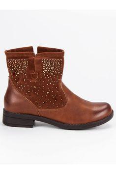Hnedé zdobené topánky Mannika Biker, Platform, Wedges, Ankle, Boots, Girls, Fashion, Crotch Boots, Toddler Girls