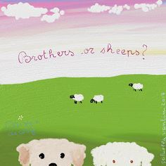 Cani in Cornice: Brothers or sheeps? ...Daisy's diary by Gabriella Vantini