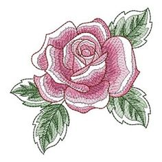 Sketched Roses 2 Set, 19 Designs - 5x5 | Borders | Machine Embroidery Designs | SWAKembroidery.com