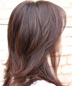 "Résultat de recherche d'images pour ""haircuts for shoulder length wavy hair layered look back view"""