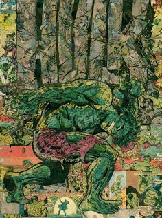 Hulk Annual Comic Collage  Giclee Print by ComicReliefOriginals