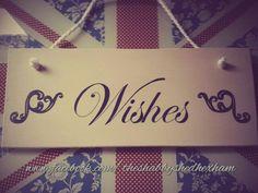 Wedding Wishes.  Custom handmade sign Annie Sloan old ochre ♥