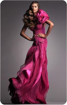 Australian Fashion Couture House  J'Aton <3   (Fuschia evening gown deliciousness)