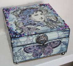 Carol Fox - WeLcOmE 2 mY wOrLd: Altered Box - A little bit blue