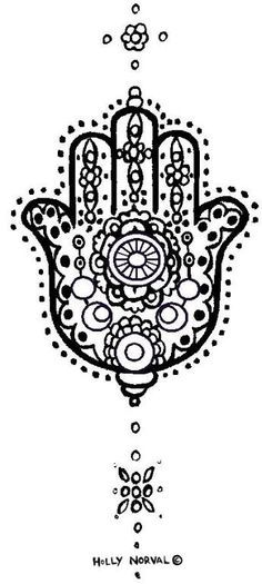 Tattoo♦️Hand of Fatima خمسة / חַמְסָה / Hamsa / AMULET / KHAMSAH / FOSTERGINGER @ Pinterest ♦️