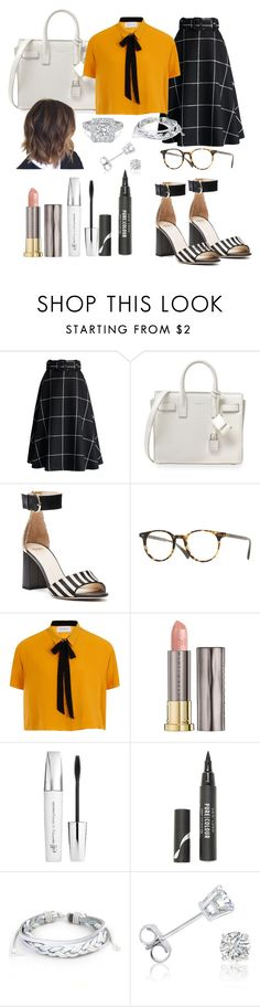 """NYC Chic Street Style"" by afternoonteaa ❤ liked on Polyvore featuring Chicwish, Yves Saint Laurent, Frances Valentine, Oliver Peoples, Elvi, Urban Decay, e.l.f., New Look, West Coast Jewelry and Amanda Rose Collection"