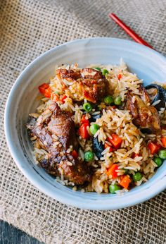 Rice Cooker Ribs and Rice, by thewoksoflife.com